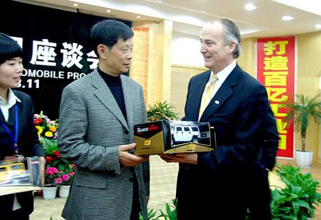 悍马公司首席执行官詹姆斯·泰勒当天也在一份声明中说,在四川腾中重工机