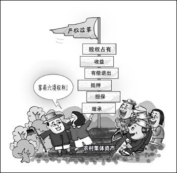 """农村集体产权制度改革和""""资源变资产资金变股金,农民变股东""""改革工作"""