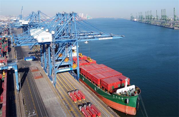 天津港自動化碼頭建設取得重要進展